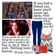 Brooke Davis by coco92 on Polyvore featuring Diane Von Furstenberg, Ted Baker, Alexander McQueen, Rebecca Minkoff, Kate Spade, statement necklaces, oth, colored jeans, sophia bush and brooke davis