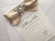 Personalised Calendar Save the Date Handmade by StylishStationery