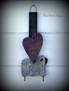 Primitive Wall Hanging From Reclaimed Wood by theprimplace on Etsy