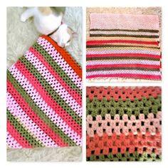 Cover handmade crochet for a single bed or a Plaid / Couverture multicolore faite à la main au crochet pour un lit une personne ou un plaid de la boutique Vintagemandalitashop sur Etsy