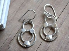 Almohad earrings, Berber dynasty jewelry in sterling silver