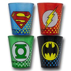 JLA shot glasses