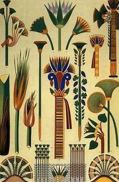 Our relationship with plants has influenced EVERY part of our human development. Here's to a greener future. (Ancient Egyptian Plants graphic)
