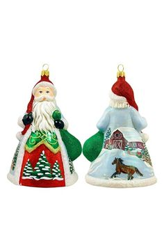Joy to the World Collectibles 'Glitterazzi' Santa Ornament available at #Nordstrom