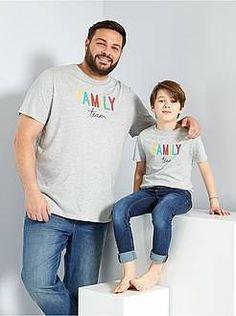 Taglie forti Uomo - T-shirt scritta 'eco-concept' - Kiabi