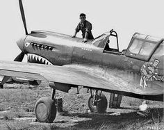 Curtiss P-40E assigned to the 23rd Fighter Group. It is an AVG P-40 with the new CATF logo painted on. The photo is said to have been taken on September 15, 1942