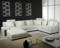 Eva Furniture Best White Leather Sectional Sofa For Small Living Room