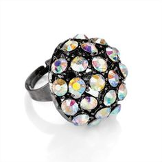 Minerva Collection Ab Crystal Fashion Ring Hematite  Price : £8.00 http://www.minervacollection.com/Minerva-Collection-Crystal-Fashion-Hematite/dp/B009S7AXLW
