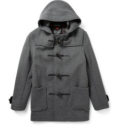 Gloverall Wool-Blend Duffle Coat