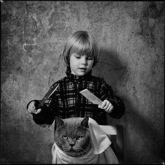 Amizade - Menina e Gato