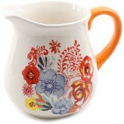 The Pioneer Woman Flea Market Floral Decorated Ceramic Pitcher Image 2 Pioneer Woman Dishes, Pioneer Woman Kitchen, Pioneer Woman Recipes, Pioneer Women, Beautiful Bouquet Of Flowers, Ceramic Pitcher, Ree Drummond, Pottery Painting, Pretty Baby