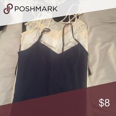 6 forever 21 camis 6 forever 21 camis. Some of the tags have been removed for comfort. No stains. 2 grey, black, navy, pink and white. Forever 21 Tops Camisoles