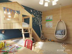 Parcourez les images de Chambre d'enfant de style de style eclectique de Мастерская дизайна Welcome Studio. Inspirez-vous des plus belles photos pour créer votre maison de rêve.