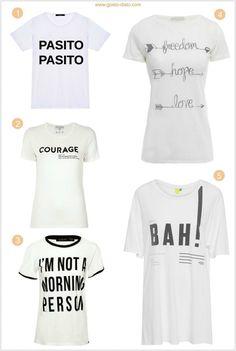 Camiseta com mensage