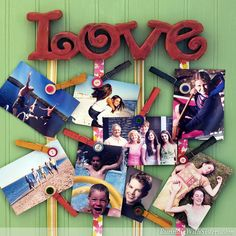 Friends Picture Hanger - Display snapshots of your BFFs without putting a zillion holes in the walls with a ribbon photo hanger!