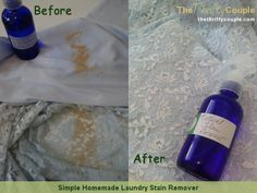 Simple Homemade Laundry Stain Remover (Natural and Safe Too)