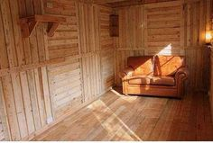 Building a shed from recycled wooden pallets - this site has pics of tons of buildings/sheds made from pallets