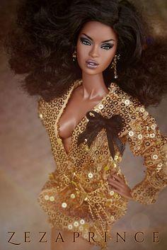 ✨ G L A M A Z O N ✨ | Zezaprince | Flickr Beautiful Barbie Dolls, Pretty Dolls, Fashion Royalty Dolls, Fashion Dolls, Barbie World, Barbie Life, Barbie Top, Diva Dolls, African American Dolls
