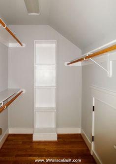 Plenty of storage in this large walk in Master closet