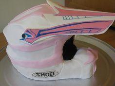Motocross Helmet Cake by TaylorMade Cakes!, via Flickr