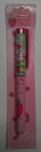 Pink Pen of Strawberry Shortcake NEW MIP 200 vintage style black ink - SOLD - please see other items for sale