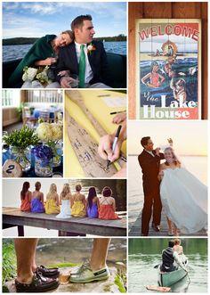 Lake wedding inspiration board    #loveandlobster