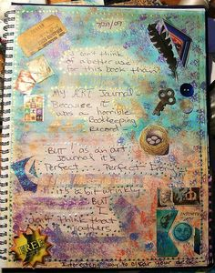 art journal pages pinterest | Art Journal Pages 001 by foxwalker, via Flickr | CRAFT - Journals