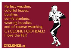 Perfect description for Cyclone football game days in the fall. - Events in World Isu Football, Iowa State Football, Iowa State Cyclones, Football Season, Ames Iowa, College Years, College Life, Sweet Quotes, World Of Sports