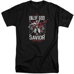 BATMAN V SUPERMAN/FALSE GOD OR SAVIOR-S/S ADULT TALL-BLACK