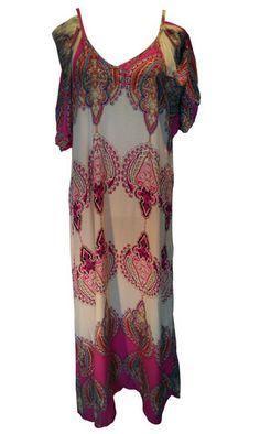 Boho Cream and Fuschia Maxi Dress – 365 Days Of Resort Wear Resort Wear, Boho Outfits, Cover Up, Cream, Beach, How To Wear, Clothes, Dresses, Fashion