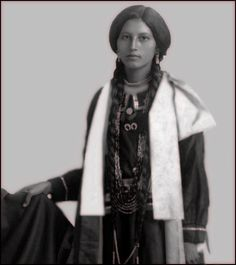Portrait of an Unidentified Ponca Woman Photo taken between 1880 ~ 1910. ~Repinned Via Maryann Milstein