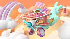 ArtStation - The Flying Pink Monster. 3d Artwork, Artwork Design, Artwork Ideas, Character Illustration, Digital Illustration, Art Illustrations, 3d Design, Game Design, 3d Character