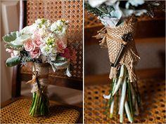 vintage key on bouquet