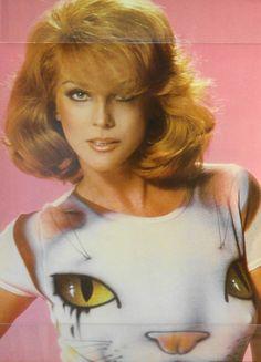 Ann-Margret in a kitty t-shirt =^..^=