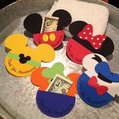 Set of 5 Mousekeeping Envelopes Mickey Minnie by nickandjojo