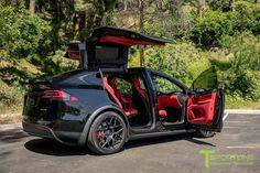 Project - 2016 Tesla Model X Ludicrous - Customer Specific, ., Project - 2016 Tesla Model X Ludicrous - Customer Specific, . Nikola Tesla, Tesla S, Tesla Motors, My Dream Car, Dream Cars, Tesla Model X, Best Luxury Cars, Red Interiors, Us Cars