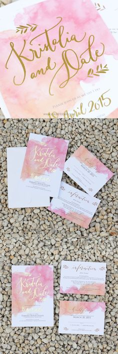 Watercolor splashed into an invite describes the Anna suite perfectly! With it's carefully thought of balance and positions the paint gave it a charming appeal!