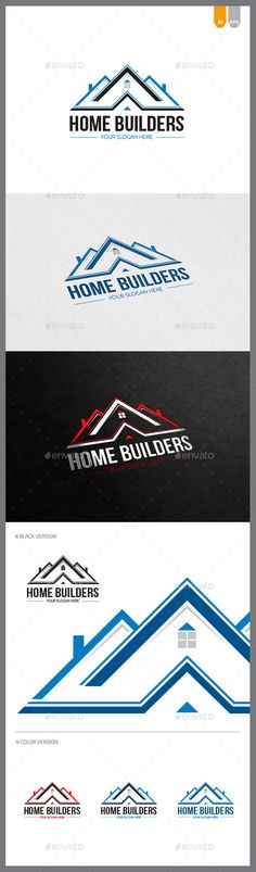 Home Builders  - Logo Design Template Vector #logotype Download it here: http://graphicriver.net/item/home-builders-logo/10148146?s_rank=1026?ref=nexion