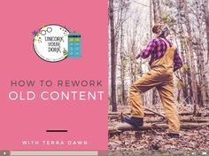 "Join the FREE Uncork Your Dork Video Library to get the ""How to Rework Old Content"" video...plus a ton more!! The library is dedicated to helping bloggers improve both organic and forced traffic through SEO, Social Media, and creating GREAT content!:"