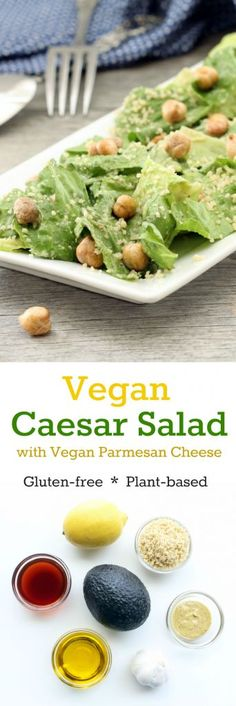 Boasting the flavors of traditional Caesar dressing while offering up additional nutrients and plant-based protein, this salad is a fresh compliment to many meals! Filling, delicious and dairy free!