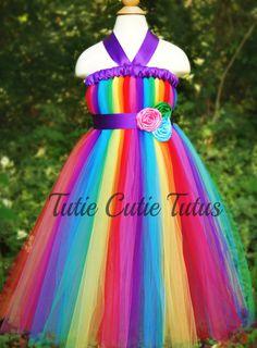 Rainbow Dash Inspired Tutu Dress by TutieCutieTutus on Etsy, $40.00