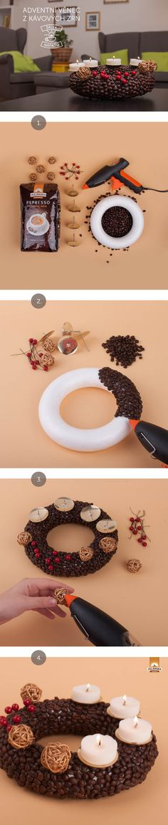 Rádi přinášíme nové věci i pokud jde o tradiční zvyky a obyčeje. Vezměte si třeba adventní věnec - a přetvořte si ho způsobem, který ocení každá návštěva. O letošních Vánocích provoní váš domov káva.