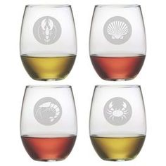 Stemware 2 Personalized Wine Glasses Your Name 18.5 Oz Each Sand Carved Neither Too Hard Nor Too Soft Glass