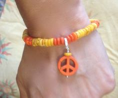 Festival Bracelet in Magnesite & Howlite with Peace by Nylissa