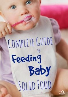 """Everything parents need to know about feeding baby solid food -- when to start, what to feed them, even when they can eat the """"real"""" stuff! Great tips! http://thestir.cafemom.com/baby/171315/starting_baby_on_solid_foods?utm_medium=sm&utm_source=pinterest&utm_content=thestir&newsletter"""