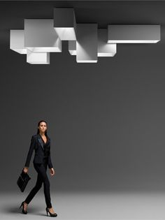 Modular Ceiling lamp LINK XXL by @VIBIA - Grupo T Diffusion | #Design Ramón Esteve #light #minimal