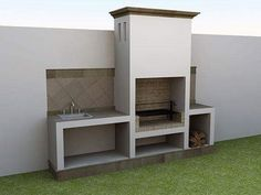 A Guide To Excellent Patio Barbecue Design Outdoor Bbq Kitchen, Outdoor Barbeque, Outdoor Kitchen Design, Built In Braai, Built In Grill, Parrilla Exterior, Barbecue Design, Brick Bbq, Backyard Patio