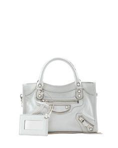 f39dac51a45 Balenciaga Metallic Edge Mini City Bag in White ~ My favorite bag  amp   designer.