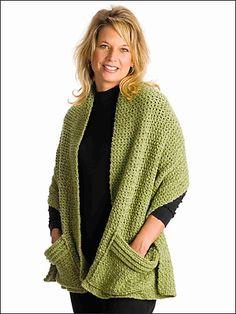 Ravelry: Crocheted Readers Wrap pattern by Elizabeth Ann White