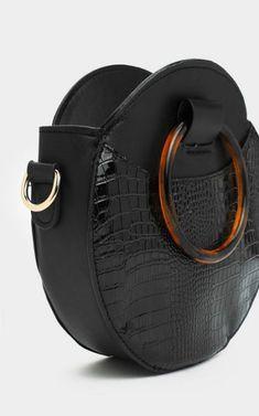 WANT Circle the Block Croc Shoulder Bag - Accessories 👜 Diy Handbag, Diy Purse, Purse Wallet, Leather Bags Handmade, Handmade Bags, Luxury Handbags, Purses And Handbags, Diy Sac Pochette, Leather Purses